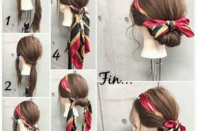 Monsoon hairstyle with scarfs