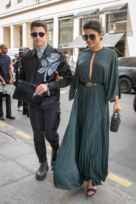 Priyanka Chopra and Nick Jonas at Paris fashion week