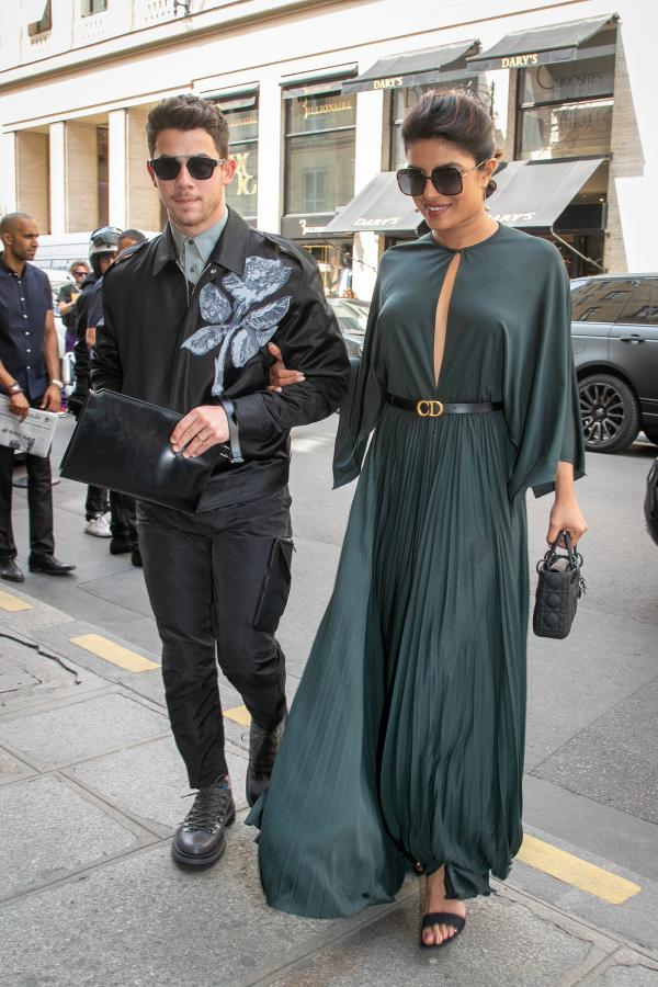 Priyanka Chopra and Nick Jonas at Paris fashion week
