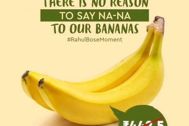 #Rahulbosemovement, Nature's Basket advertisement on bananas