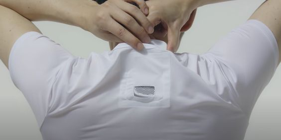 Sony mini air conditioner to wear with clothes