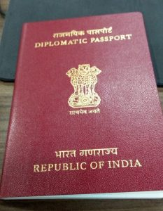 Type D, diplomatic Indian passport