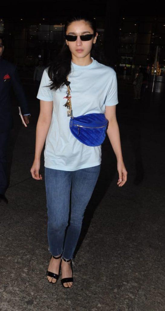Alia Bhatt with a bum bag