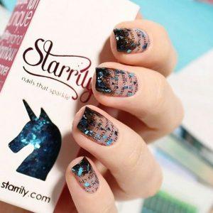 Newspaper nail art