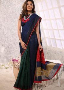 How to wear a saree palla
