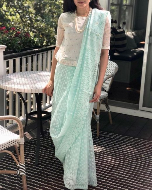 How to wear a saree palla