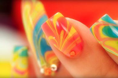 DIY Marble Nails