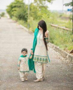 Mom and baby girl matching dress