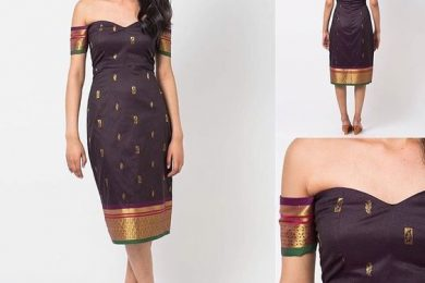 Turn silk sarees into dresses