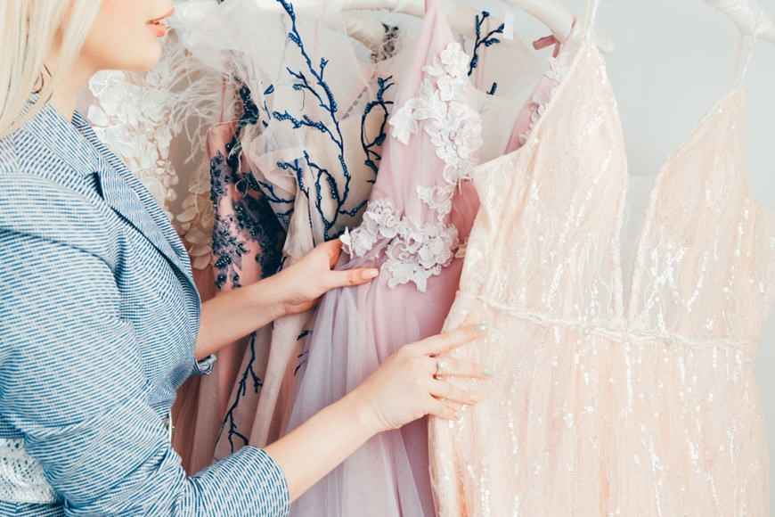 Choose prom dresses in local boutique