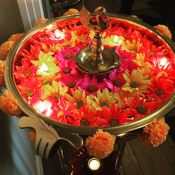 Diwali decoration with flowers