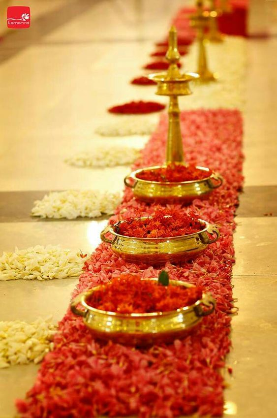 Diwali decoration with flowers
