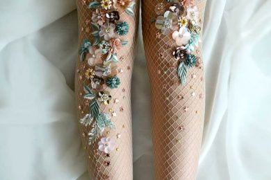 Embroidered Tulle Socks For The Fashionable Ones