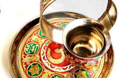 Meenakari pooja thali set for karvachauth
