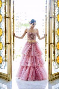 Alluring Lehnga Designs In Net For The Bridesmaid