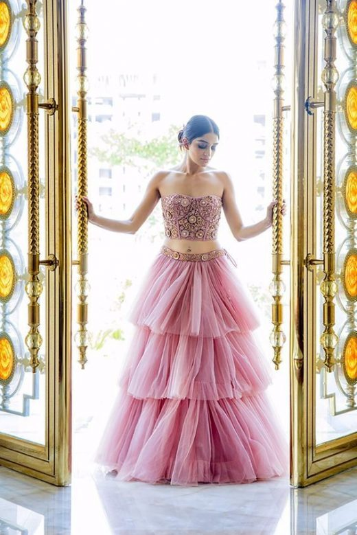 Alluring Lehnga Designs In Net For The Bridesmaid