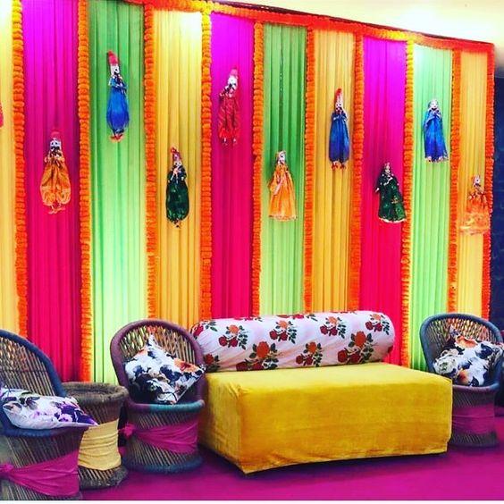 Stage decor for Mehndi