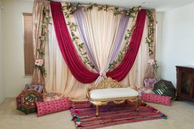 Stage decor for Mehndi