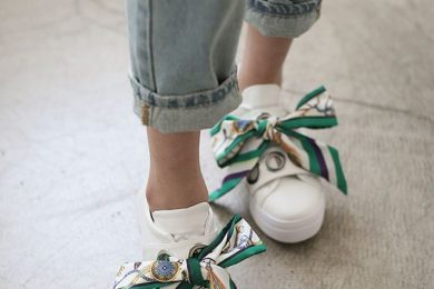 8 Ways To Turn Your Twilly Scarf Into A Foot And Footwear Accessory