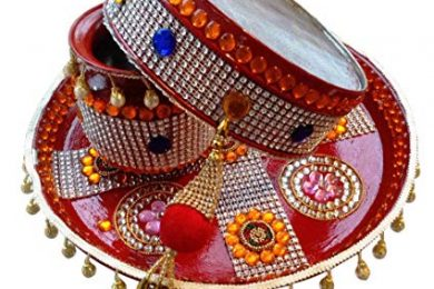 pooja thali set for karvachauth