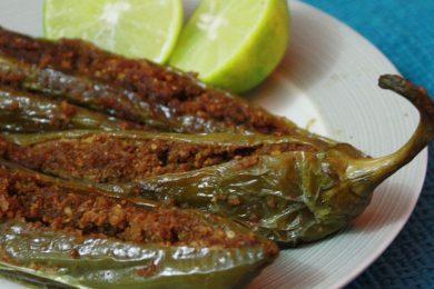 Bharwa or stuffed green chilli recipe