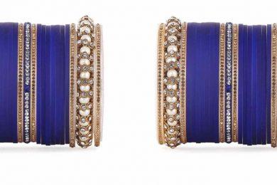 Dark Blue choora for the Indian brides