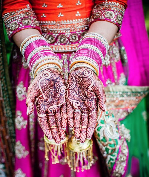 Purple color choora for the Indian brides