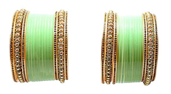 green color choora for the Indian brides