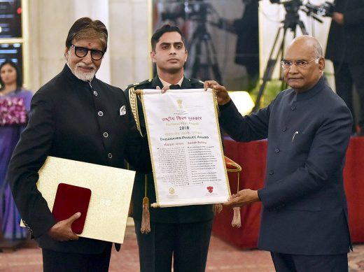 Amitabh Bacchan honoured with Dadasaheb Phalke Award