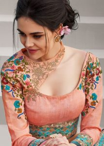 Blouse designs with double neckline