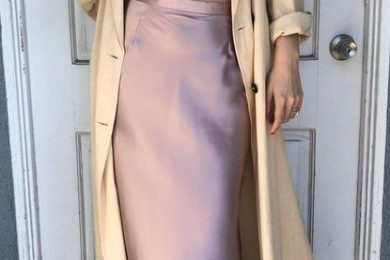 How to wear satin dresses in winters
