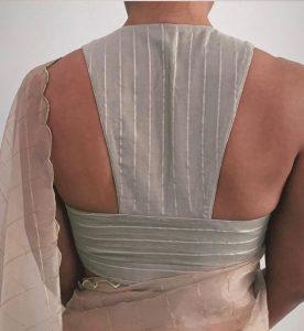 Interesting back neck design ideas for blouse