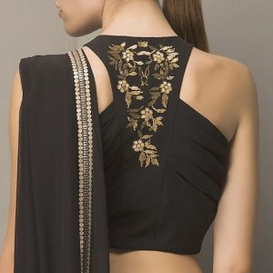 Interesting back neck design ideas for blouse
