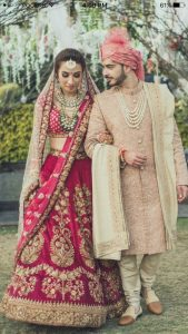 Lehnga and sherwani Color combination for couple