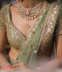 Necklines for bridal blouses