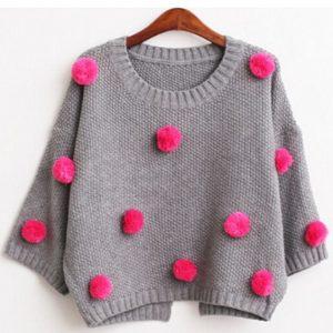 DIY embelished sweater