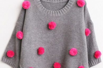 DIY embelished sweater