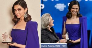 Deepika Padukone honored with crystal award at the world economic forum, Davos, Switzerland