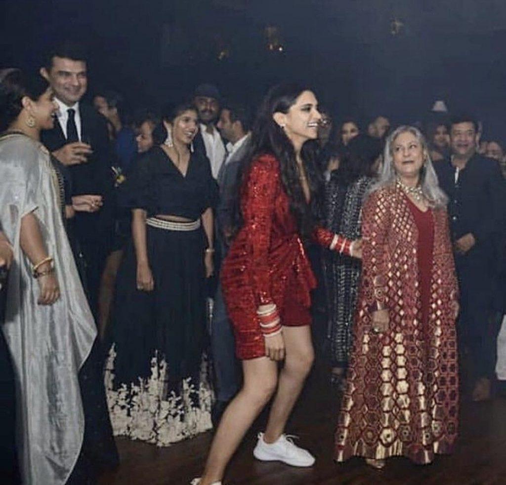 Deepika Padukone in sneakers at her reception