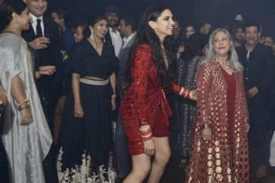 Deepika Padukone in sneakers at her reception