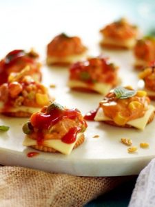 Easy snack ideas made with biscuit