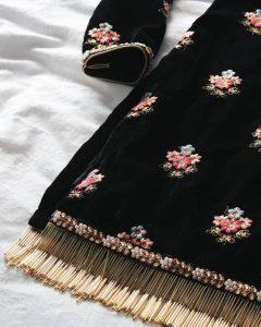 Interesting design details for kurta pyjama