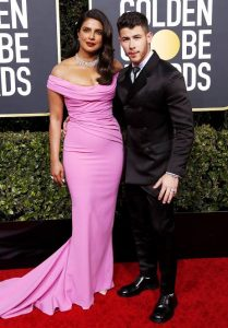 Priyanka Chopra and Nick Jonas at 77 Golden Globe Awards