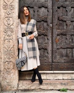 Styling with winter scarf
