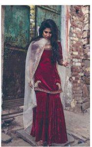 Velvet kurta salwar designs