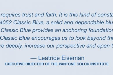 Pantone color of the year 2020 classic blue Lee Eiseman quote