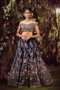 Blue bridal lehnga