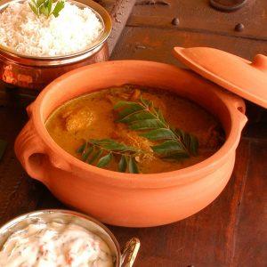Clay pot for cooking food