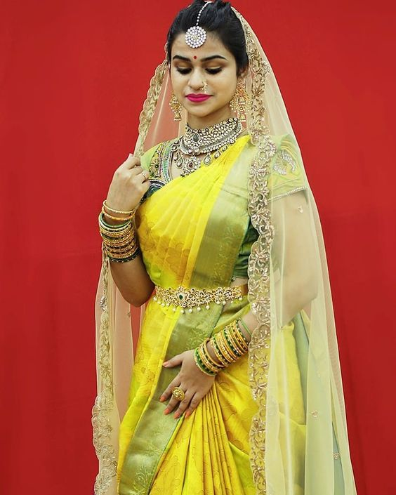 Dupatta ideas to pair with a Saree for bridal wear