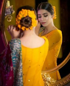 Hairstyle for Haldi ceremony